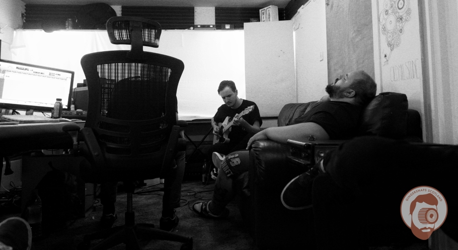 Swallows Recording @ The Old Mill Studios // photograph by Calum McMillan